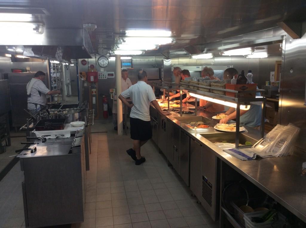 Keuken tijdens de maaltijd